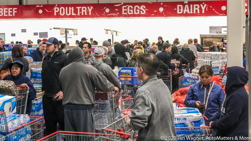 01895-20200314-15 Panic buying in San Diego at Costco Business Center + Costco Wholesale + Target + Costco Wholesale + Ralphs prompted by the coronavirus-COVID-19 pandemic-iPhoneX