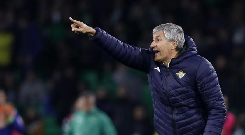 El entrenador del Real Betis Quique Setién. EFE/Archivo