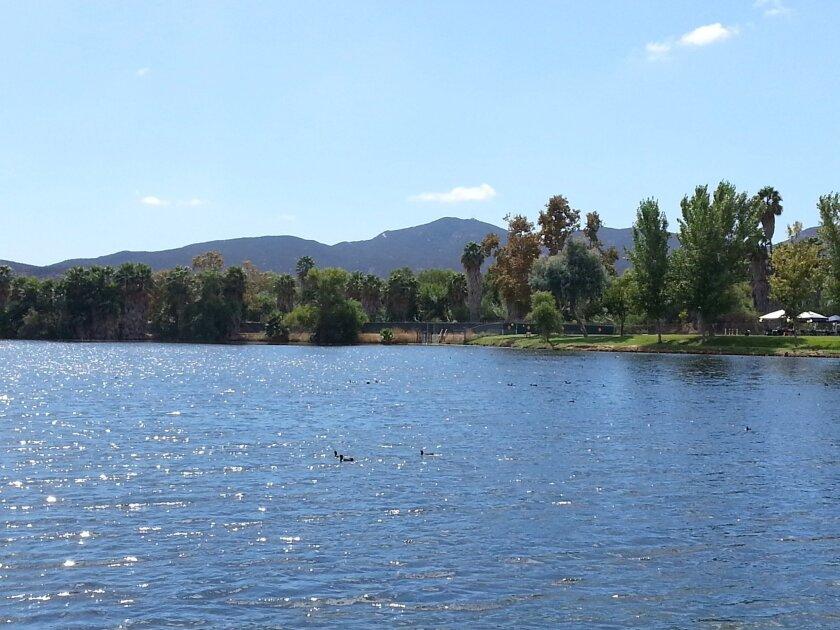 Padre Dam's Santee Lakes, where the Santee Santas will host a fundraiser on Sept. 28.