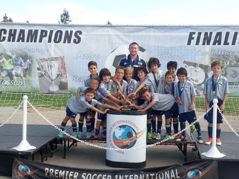 Del Mar Carmel Valley Sharks Boys U9 White team wins Hotspurs Labor Day Soccer Tournament