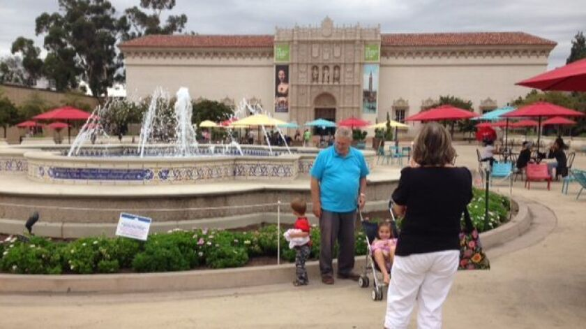 The North Family fountain in Balboa Park's Plaza de Panama was added in 1995.