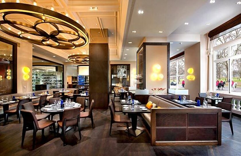 The dining room at Dinner by Heston Blumenthal.