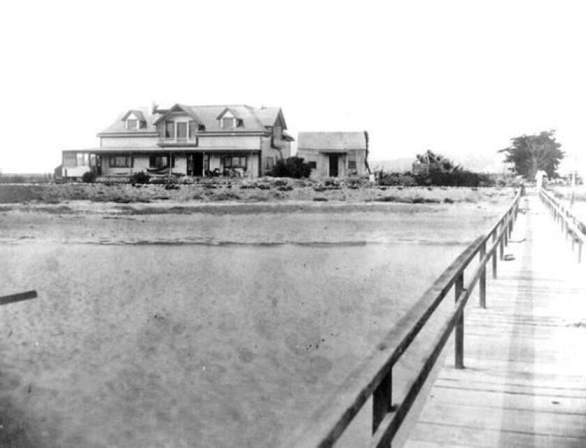 The F. W. Scripps family mansion —Braemar — in March 1901, was located where The Catamaran Resort is today at 3999 Mission Blvd.