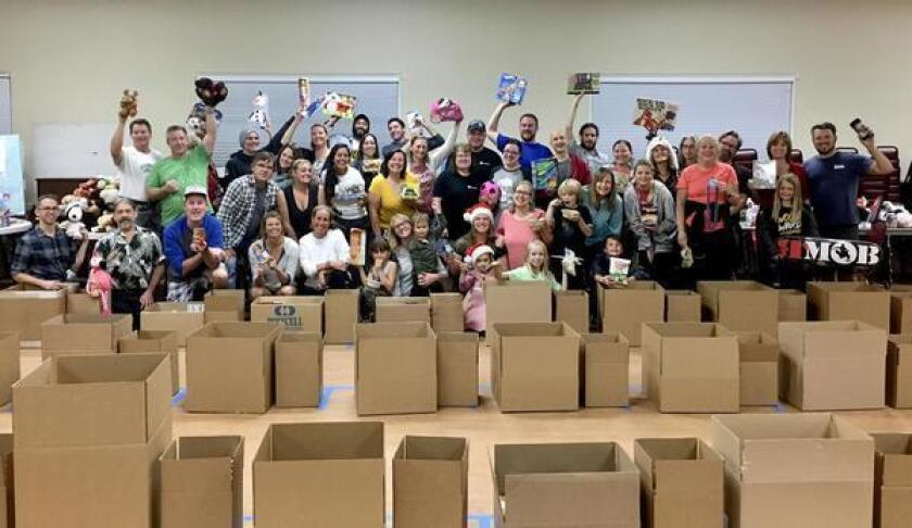 There's room for more community volunteers to sort, pack and deliver food and toy baskets this holiday season. The work gets done 5-8 p.m. Dec. 10-15, 2018 at the Masonic Lodge in Ocean Beach.