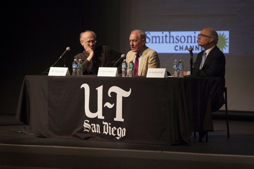 November 7, 2014_San Diego California_USA_| U-T Talks event at the Museum of Contemporary Art on the life of Jonas Salk tied to the 100th anniversary of his birth.|_Mandatory Photo Credit: Photo by John R. McCutchen/UT San Diego/Copyright 2014 San Diego Union-Tribune, LLC
