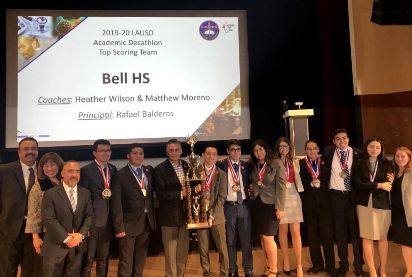 Bell High School wins 2020 L.A. Unified Academic Decathlon
