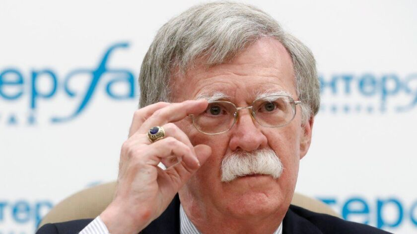 US National security advisor John Bolton in Moscow, Russian Federation - 27 Jun 2018