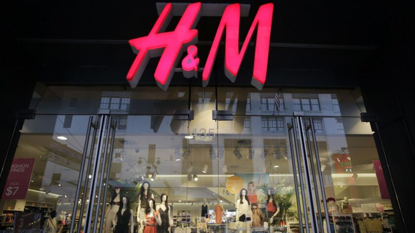 FILE - In this May 31, 2013, file photo, an H&M store is shown in New York. Swedish low-cost fashio