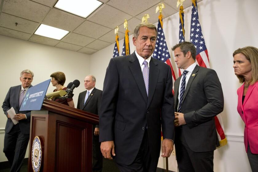 John Boehner, Kevin McCarthy, Steve Scalise, Cathy McMorris Rodgers, Adam Kinzinger, Lynn Jenkins