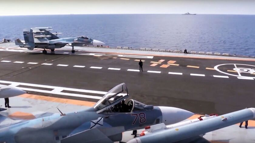In this file photo made from footage taken from a Russian Defense Ministry official website on Nov.