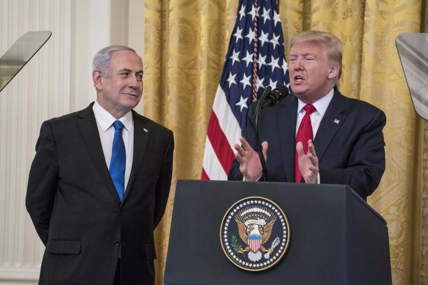 President Trump and Israeli Premier Benjamin Netanyahu