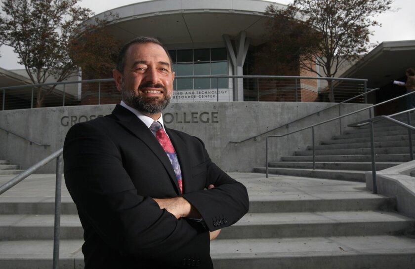 Grossmont College has a new president. Nabil Abu-Ghazaleh.
