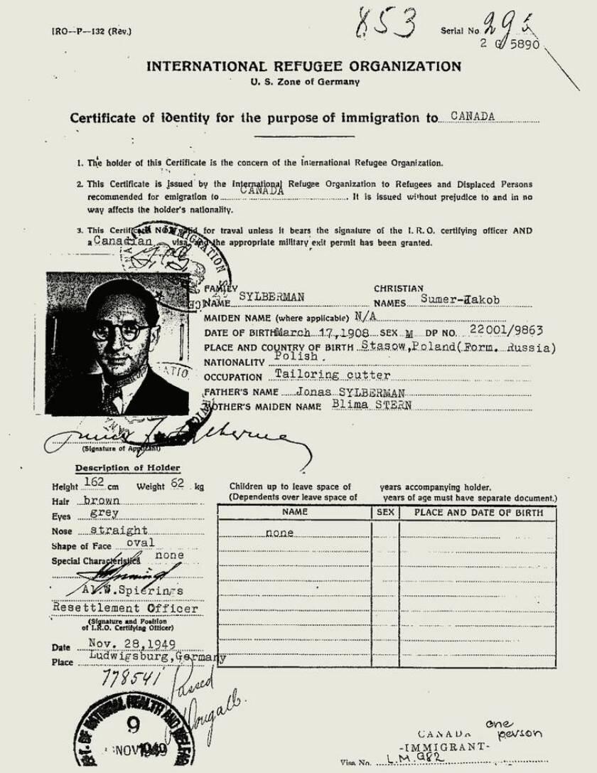 immigration document