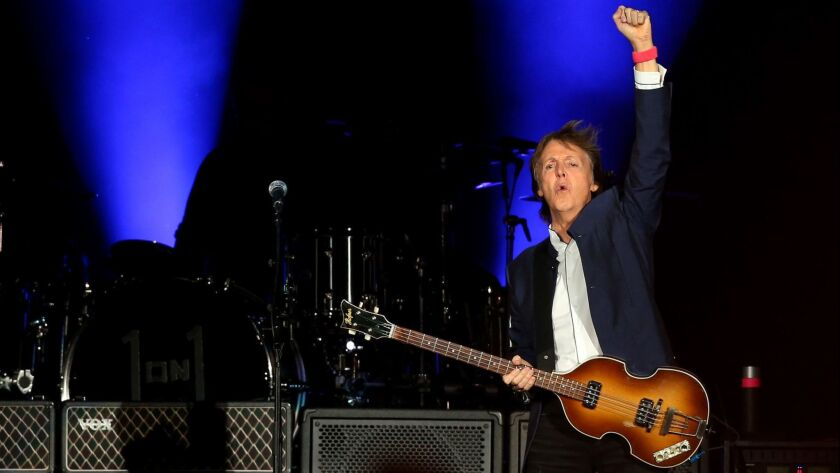 INDIO, CALIF. - OCT. 15, 2016. Paul McCartney takes the stage during weekend 2 of Desert Trip in In