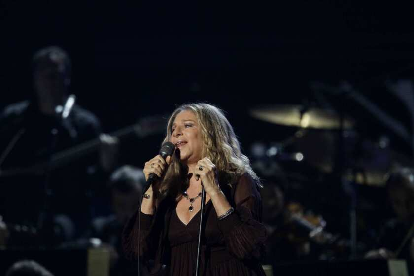 Barbara Streisand performs at the Grammy Awards in 2011.