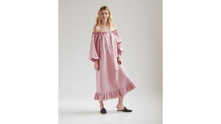 Sleeper - Ruffled linen gowns from Sleeper are for day-dressing and going to bed Credit - Sleeper