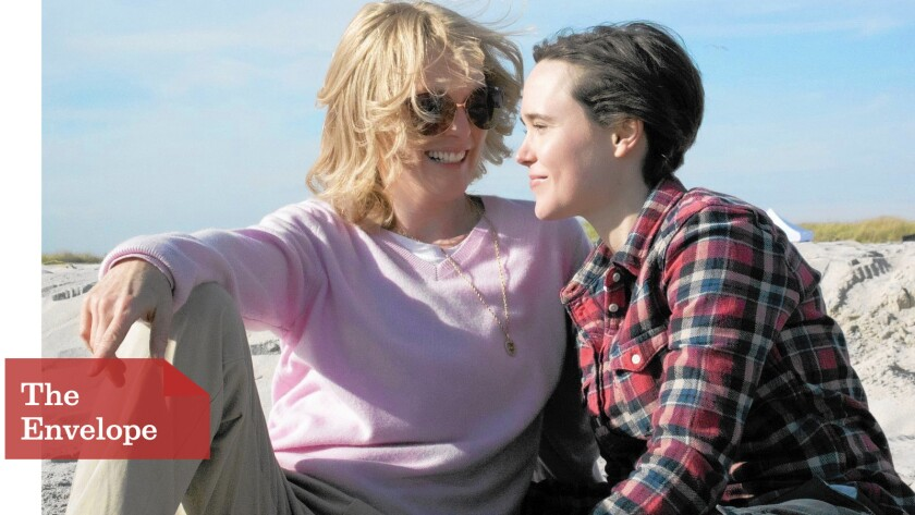 """Julianne Moore, left, and Ellen Page play a real-life couple in """"Freeheld."""""""