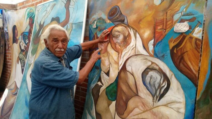 Mexican muralist chronicles the coming of the conquistadors
