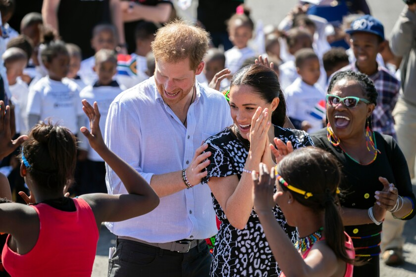 Duke and Duchess of Sussex tour South Africa