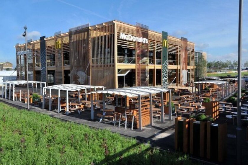 McDonald's shares an advanced look at its flagship Olympic Park restaurant for the London 2012 Games.