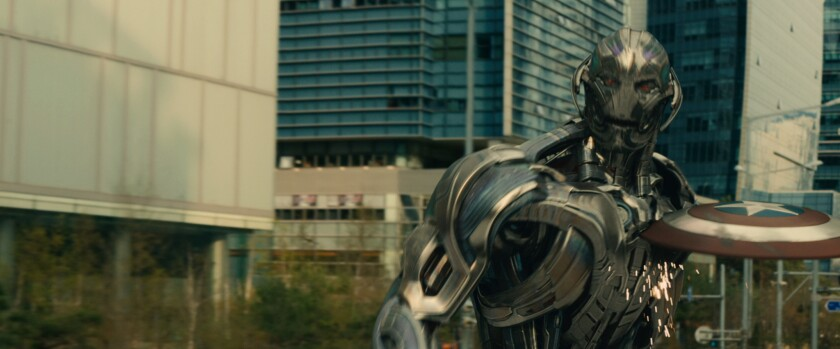 """A scene from """"Avengers: Age of Ultron,"""" which filmed scenes in Seoul."""