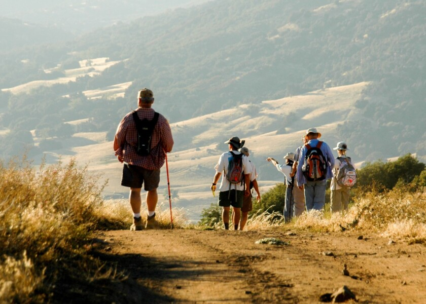 The six hikes begin on Oct. 12, and end on April 18, 2020.