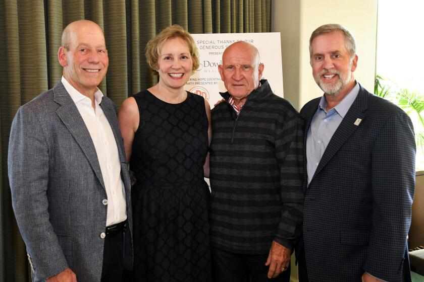 Steve Strauss, Voices for Children CEO Sharon Lawrence, Peter Farrell and Dale Yahnke
