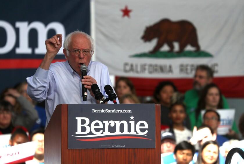 Bernie Sanders in Richmond, Calif.