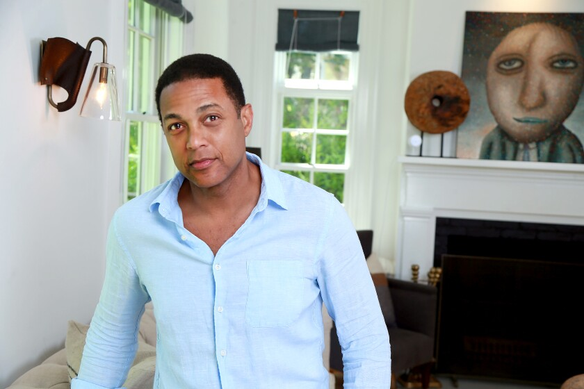 Don Lemon at his home in East Hampton, N.Y., on June 8.