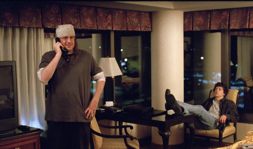 Jason Segel and Jesse Eisenberg in 'The End of the Tour'