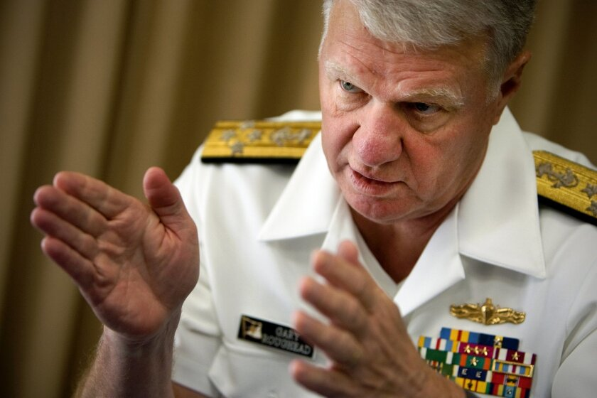 Adm. Gary Roughead, the chief of naval operations, during an Aug. 4, 2011, interview in San Diego.