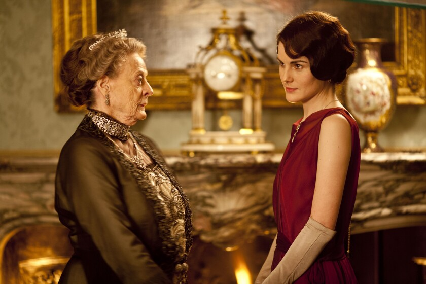 """Season 5 of """"Downton Abbey,"""" starring Maggie Smith, left, and Michelle Dockery, will be back on PBS in January."""