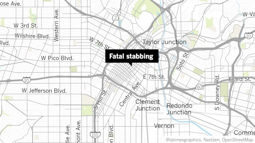 Fatal stabbing at restaurant in downtown Los Angeles