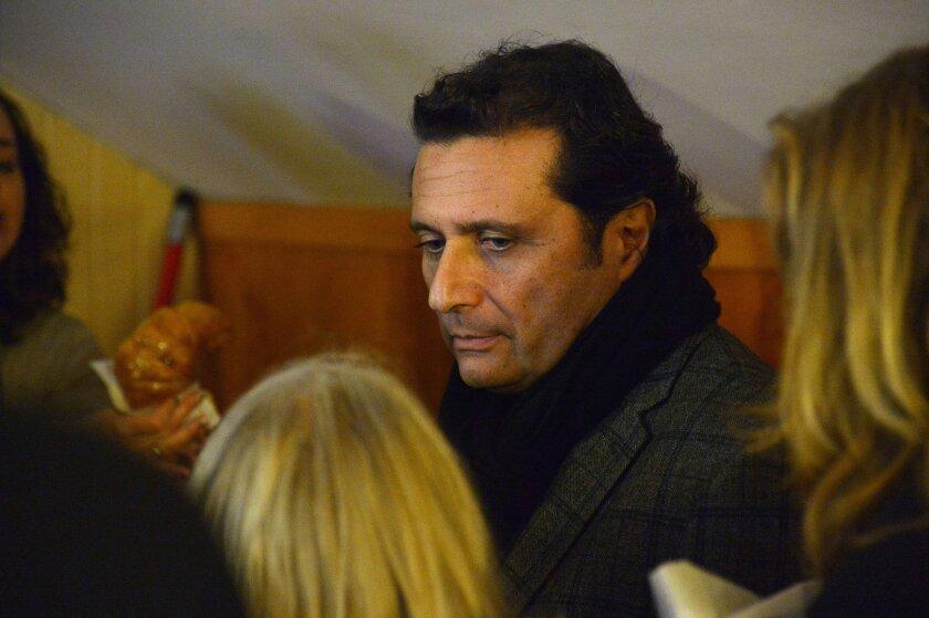 Costa Concordia Capt. Francesco Schettino during a break at his trial Feb. 9 in Grosseto, Italy.