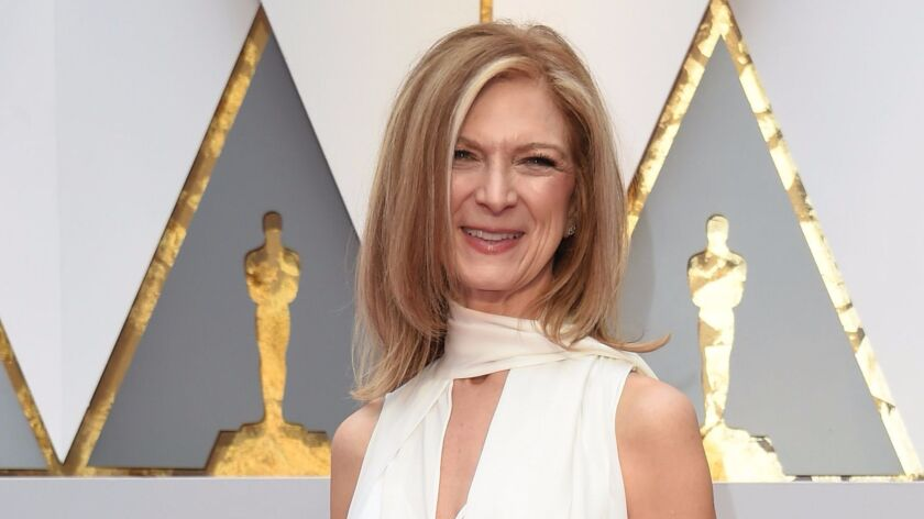 Dawn Hudson arrives on the red carpet for the 89th Oscars on February 26, 2017 in Hollywood, Califor