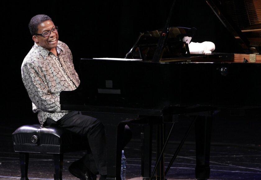 Herbie Hancock, whose upcoming new album features Wayne Shorter and Kendrick Lamar, will perform at Humphreys on Aug. 20. (AP Photo/Arnulfo Franco)