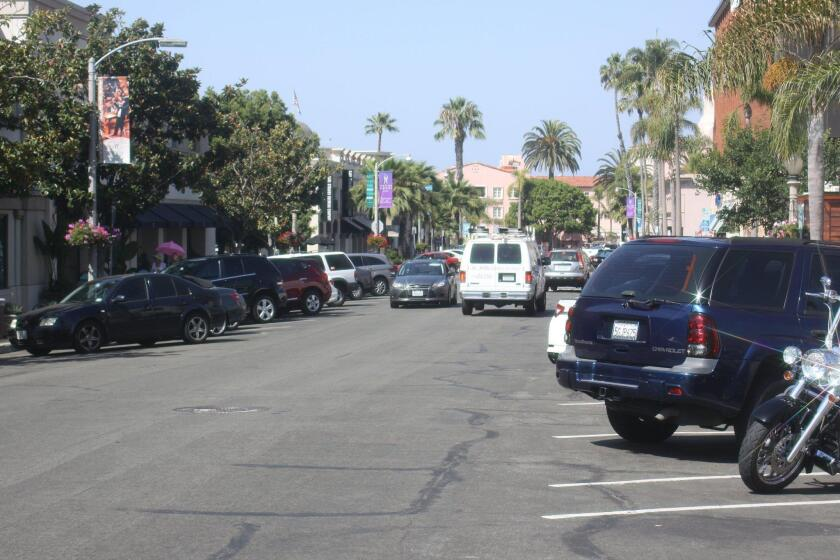 Finding free parking in the Village of la Jolla can be difficult during peak hours.