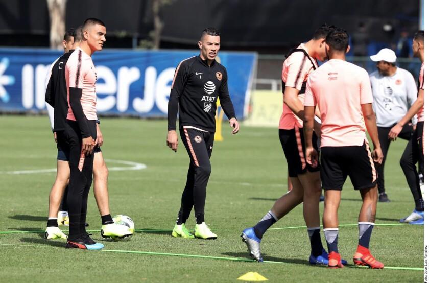 Matheus Uribe y Jérémy Ménez trabajan ya a plenitud con el América, mientras que Roger Martínez continúa rehabilitándose