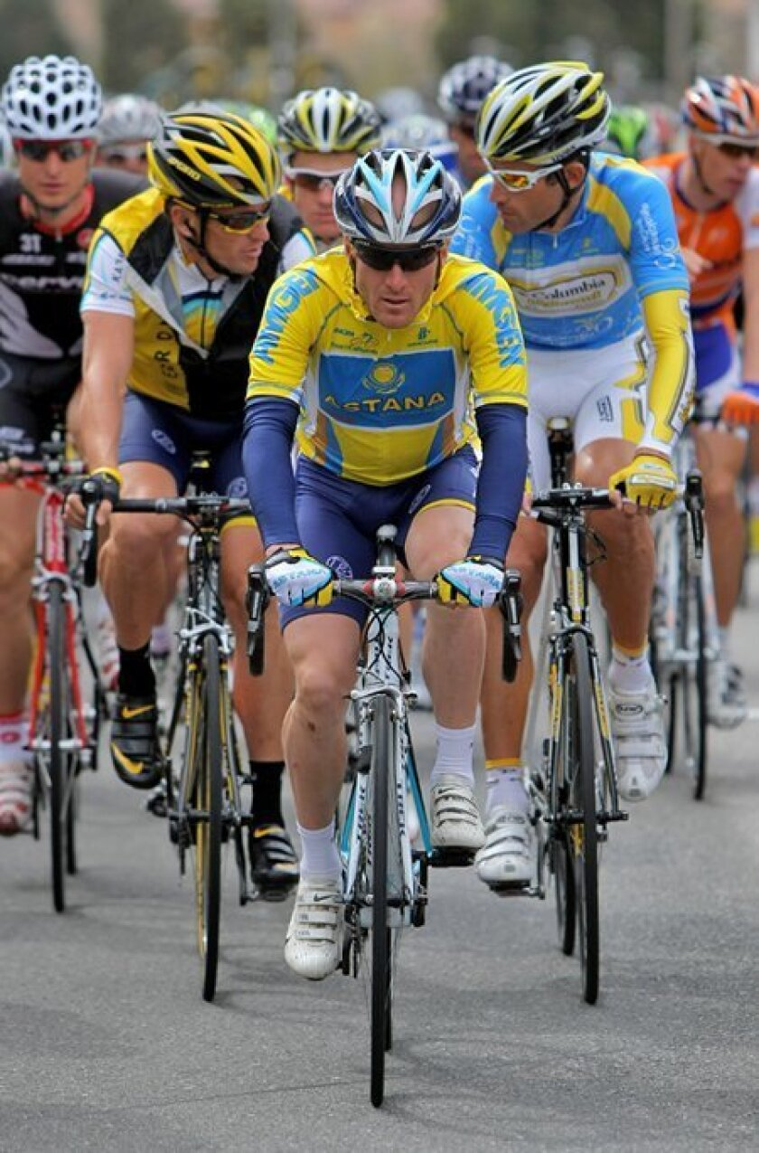 Levi Leipheimer won the Tour of California when it concluded in Escondido last month, but the cycling stage race may not be back in the county next year. (Getty Images)