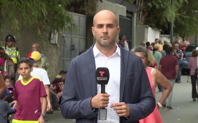 Daniel Garrido es secuestrado y liberado por el régimen de Nicolás Maduro en Caracas.