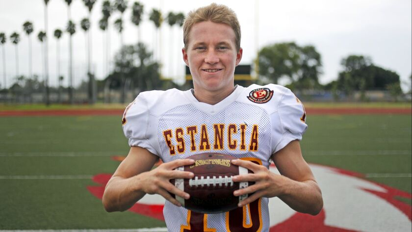 Estancia High senior running back Trevor Pacheco is the High School Football Player of the Week. Pac