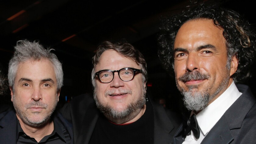 Alfonso Cuarón, from left, Guillermo del Toro and Alejandro González Iñárritu.