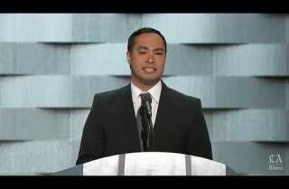 Rep. Joaquin Castro of Texas speaks at the Democratic National Convention