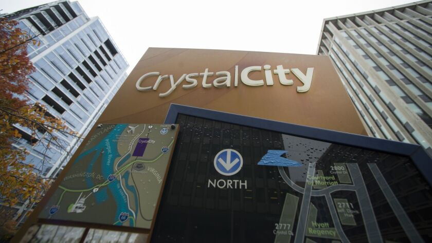 Crystal City, in Arlington, Va.,is seen Tuesday, Nov. 13, 2018. Crystal City is expected to be named