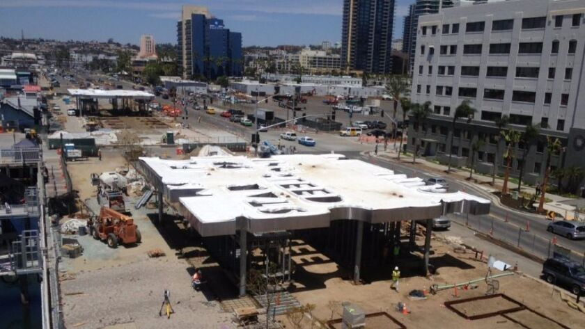 The first phase of the North Embarcadero Visionary Plan as seen in this 2014 construction photo.
