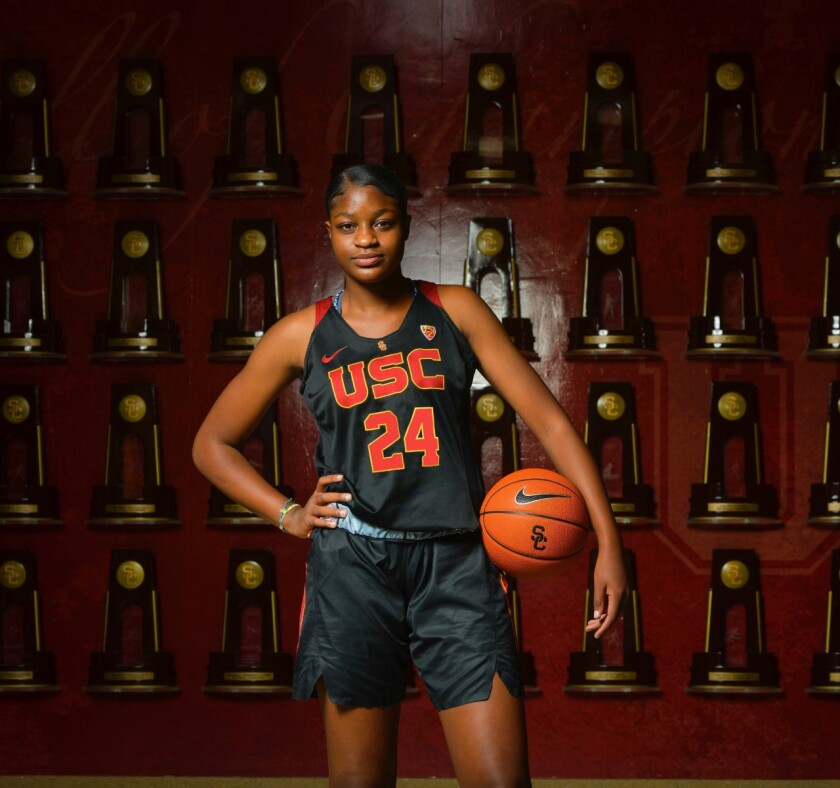 Clarice Akunwafo of Rolling Hills Prep, a USC signee, was named a McDonald's All-American.