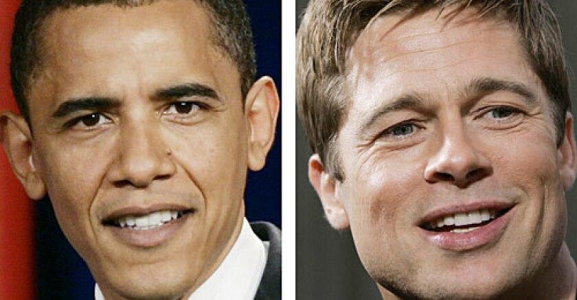 Barack Obama, Brad Pitt