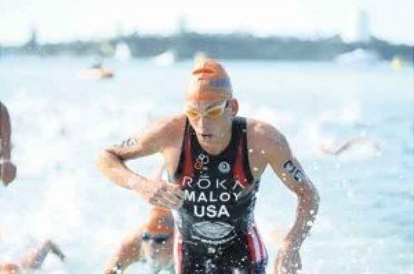 Joe Maloy hopes to represent USA in the triathlon in the 2016 Olympics. Photo by Delly Carr