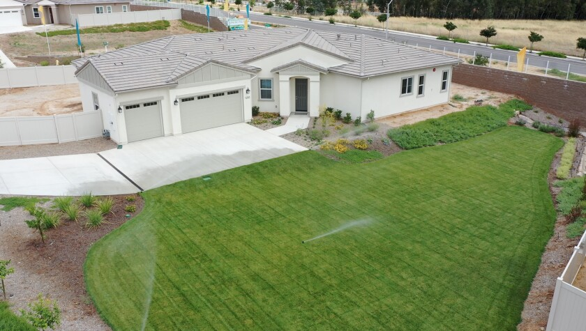 With pricing in the high $700,000s, Rancho Palomar's estate-size homes are on lots of 1/4 to 1/2 acre.