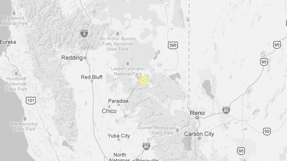 Earthquake 3 5 Quake Strikes Near Greenville California Los